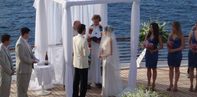 trouwen op een cruise schip